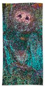 Lady Behind The Mask Beach Towel