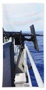 Master-at-arms Fires A .50-caliber Beach Towel