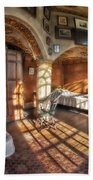 Master Bedroom At Fonthill Castle Beach Towel