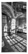 Master Bedroom At Fonthill Castlebw Beach Towel