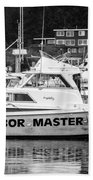 Master Of The Harbor Beach Towel by Melinda Ledsome