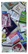 Matchbooks And Matchboxes Beach Towel