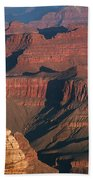 Mather Point At Sunrise On The Grand Canyon Beach Towel