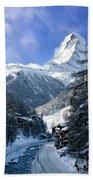 Matterhorn  Beach Towel by Brian Jannsen