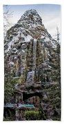 Matterhorn Mountain With Bobsleds At Disneyland Beach Towel