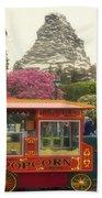 Matterhorn Mountain With Hot Popcorn At Disneyland 01 Beach Towel