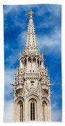 Matthias Church Bell Tower In Budapest Beach Towel