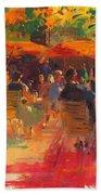 Maturing Sun, Paris Oil On Canvas Beach Towel