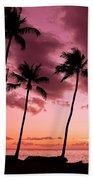 Maui Silhouette Sunset Beach Towel
