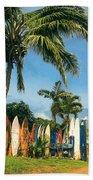 Maui Surfboard Fence - Peahi Beach Towel