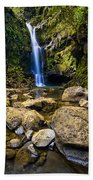 Maui Waterfall Beach Towel by Adam Romanowicz