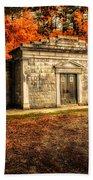 Mausoleum Beach Towel by Bob Orsillo