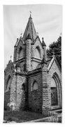 Mausoleum New England Black And White Beach Towel