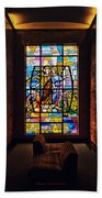 Mausoleum Stained Glass 01 Beach Towel