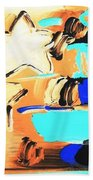 Max Americana In Inverted Colors Beach Towel