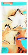 Max Two Stars In Inverted Colors Beach Towel