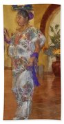 Maya Woman-mexico V2 Beach Towel