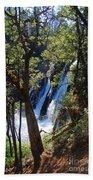 Mcarthur-burney Falls Side View Beach Towel