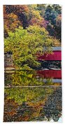 Mcconnell's Mill And Covered Bridge Beach Towel