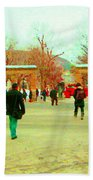 Mcgill Univ Students And Faculty College Campus Montreal Memories Collectible Art Prints C Spandau Beach Towel