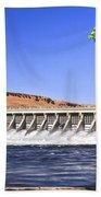 Mcnary  Hydroelectric Dam Beach Towel by Robert Bales