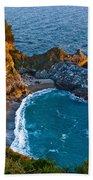 Mcway Waterfall. Big Sur Beach Towel