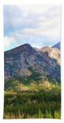 Meadow And Mountains Beach Towel