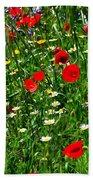 Meadow Flowers - Digital Oil Beach Towel