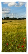 Meadow Of Poppies Beach Towel