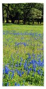Meadows Of Blue And Yellow. Texas Wildflowers Beach Towel