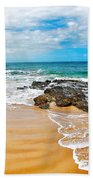 Meandering Waves On Tropical Beach Beach Towel