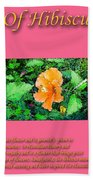 Meaning Of Hibiscus Flowers Beach Towel