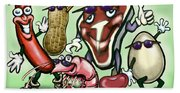 Meats Protein Food Group Beach Towel