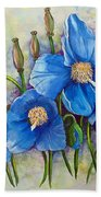 Meconopsis    Himalayan Blue Poppy Beach Towel