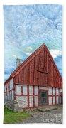 Medieval Building Beach Towel by Antony McAulay