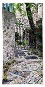 Medieval Garden Beach Towel