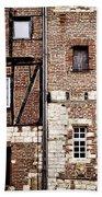 Medieval Houses In Albi France Beach Towel