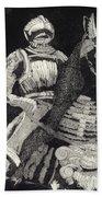 Medieval Knight On Horseback - Chevalier - Caballero - Cavaleiro - Fidalgo - Riddare -ridder -ritter Beach Towel