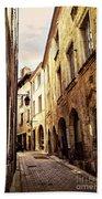 Medieval Street In Perigueux Beach Towel by Elena Elisseeva