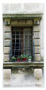 Medieval Window With Iron Grilles Beach Towel