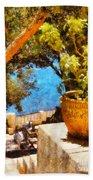 Mediterranean Steps Beach Towel