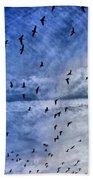Meet Me Halfway Across The Sky 1 Beach Sheet by Angelina Vick