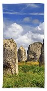 Megalithic Monuments In Brittany Beach Towel by Elena Elisseeva