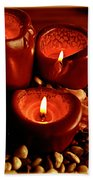 Melted Candles Beach Towel