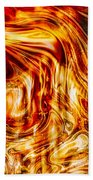 Melting Gold Beach Towel