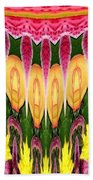 Melting Lily And Chrysanthemums Abstract Beach Towel