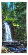 Memorial Falls With Sky Beach Towel