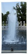 Memorial Fountain Washington Dc Beach Towel