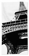 Eiffel Tower Silhouette Beach Towel