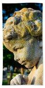 Memphis Elmwood Cemetery - Boy Angel Vertical Beach Towel